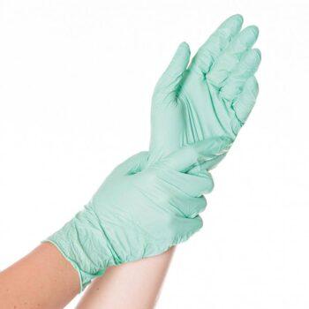 Puudrivabad nitriilkindad SAFE LIGHT S (roheline)