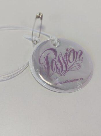 Passion logoga helkur (valge)
