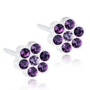 Daisy Amethyst/Light Amethyst 5mm 1 paar