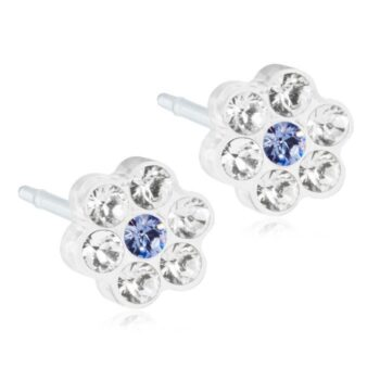 Daisy Crystal/Sapphire 5mm 1 paar