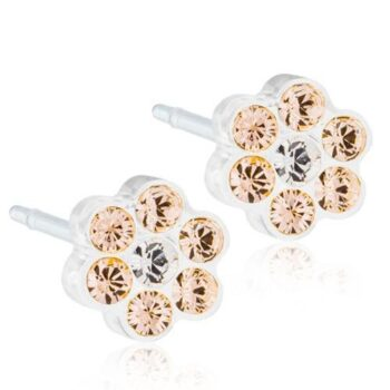 Daisy Golden Rose/Crystal 5mm 1 paar