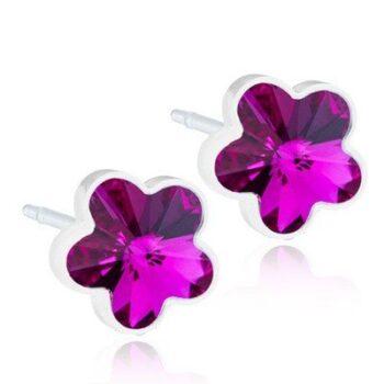 Flower Fuchsia 6mm 1 paar