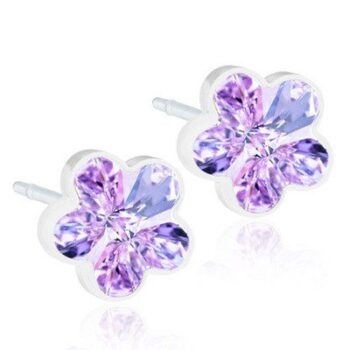 Flower Violet 6mm 1 paar