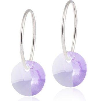 Naturaalne titaan Round Violet 14mm rõngas