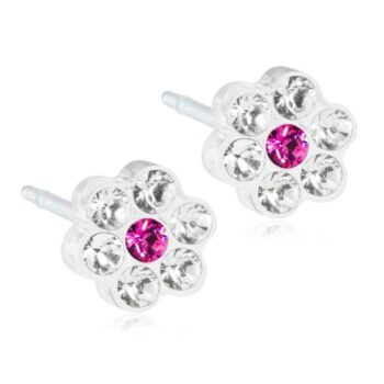 Daisy Crystal/Rose 5mm 1 paar