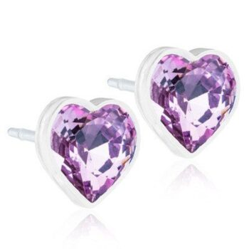 Heart 6mm Light Amethyst