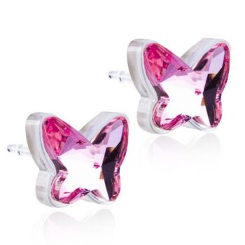 Butterfly Light Rose heleroosa liblikas Swarovski kristall 9mm