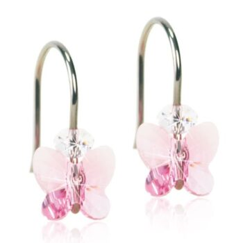 Naturaalne titaan Butterfly Light Rose Swarovski kristall 8mm