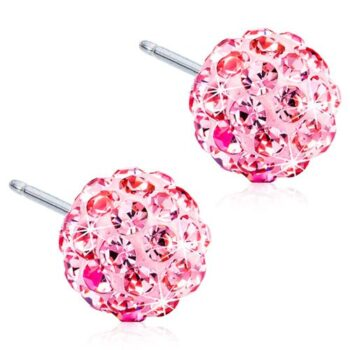 Naturaalne titaan Light Rose discopall Swarovski kirstallidega 6mm