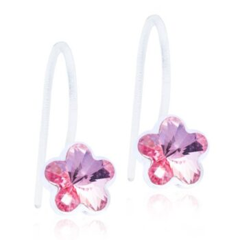 Fixed Flower Light Rose Swarovski kristall 6mm