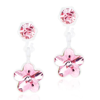 Flower Light Rose heleroosa lill Swarovski kristall 4/6mm