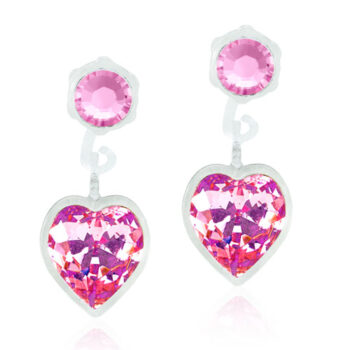 Heart Light Rose heleroosa süda Swarovski kristall 4/6mm