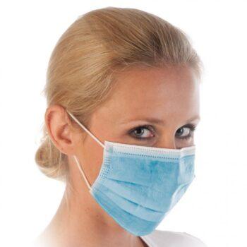 3-kihilised suu-nina maskid (sinine) 10tk
