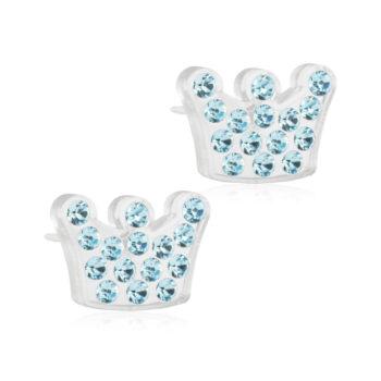 Brilliance Princess Aquamarine kroon helesiniste Swarovski kristallidega 9mm