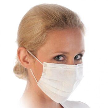 3-kihilised suu-nina maskid (valge) 50tk
