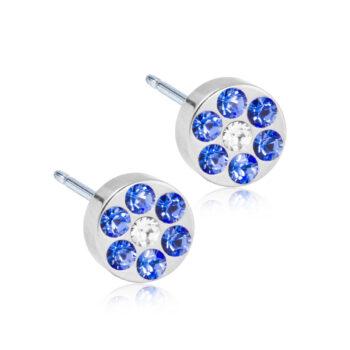 Brilliance Plenary Sapphire/Crystal naturaalne titaan eresinised/valge kristallid 5mm