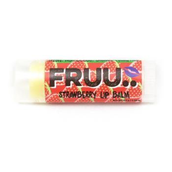 FRUU vegan ja 100% looduslik maasikamaitseline huulepalsam 4,5 gr