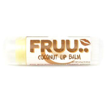 FRUU vegan ja 100% looduslik kookosemaitseline huulepalsam 4,5 gr
